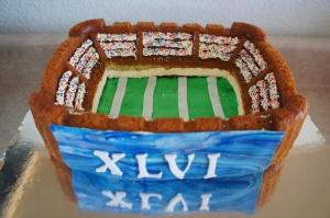 Super Bowl XLVI Stadium Cake