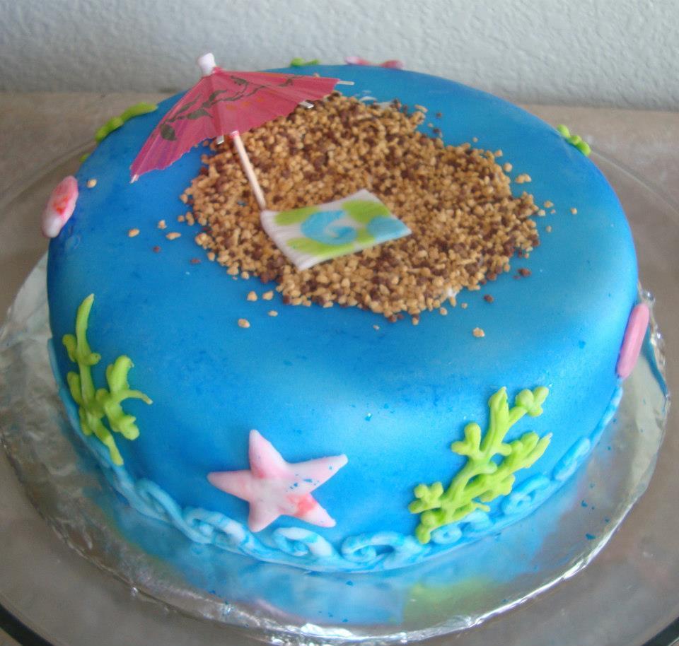 Miraculous Ocean Cake Personalised Birthday Cards Veneteletsinfo