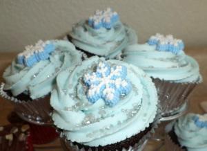 Snowflake Cucpakes